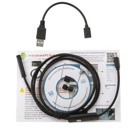 Kamera inspekcyjna USB 5M - wodoodporna kamera endoskopowa