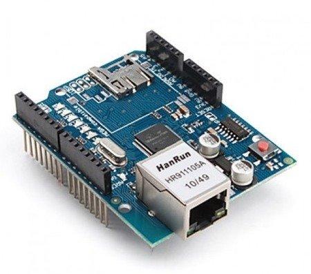 Moduł sieciowy ethernet shield W5100 z czytnikiem kart microSD - Arduino