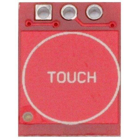Czujnik dotykowy pojedyńczy TTP223 14x11mm - Touch Sensor do Arduino