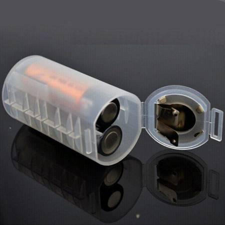 Adapter baterii 2xAA na R20/D - Koszyk na baterie 2xAA (R6 1.5V)