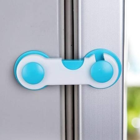 Blokada do szafki - zabezpieczenie przed otwarciem - niebiesko-biała