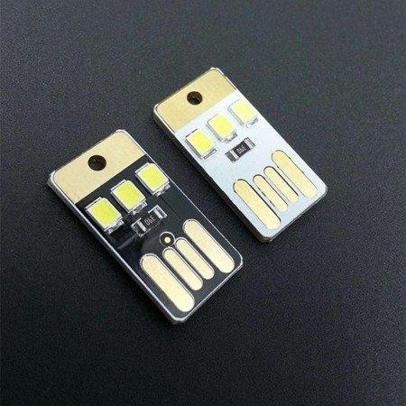 Brelok mini LED na USB - 3 diody LED - 25x12mm