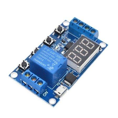 Cyfrowy Timer czasowy M792 6-20V - z przekaźnikiem 10A - wyzwalacz czasowy