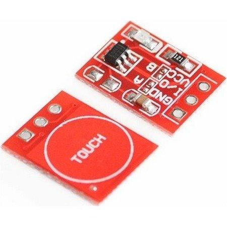 Czujnik dotykowy pojedynczy TTP223 14x11mm - Touch Sensor do Arduino