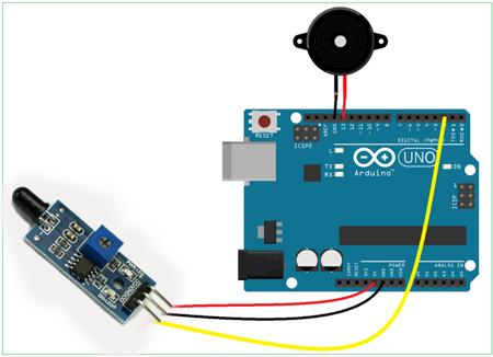 Czujnik płomienia - detektor ognia na LM393 do Arduino