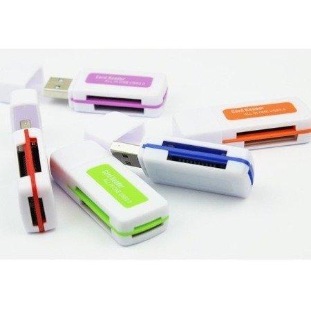 Czytnik USB 2.0 do kart pamięci - All in One - Adapter SD Micro-SD MS M2 TF