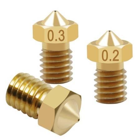 Dysza 0,5mm M6 - Filament 1,75mm - H12.5mm - mały stożek - RepRap E3D V5 V6