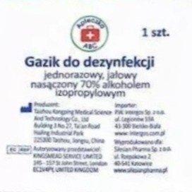 Gazik do dezynfekcji 2 warstwowy - jałowy - jednorazowy - 10 szt