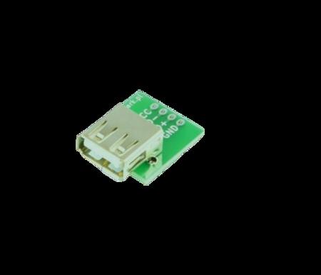 Gniazdo USB A do płytki stykowej KIT - Gniazdo USB typ A