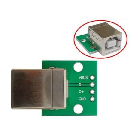 Gniazdo USB B do zasilania płytki stykowej - KIT