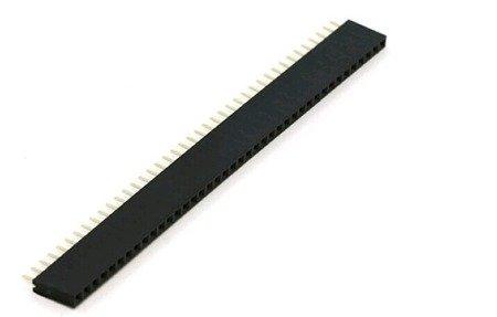 Gniazdo kołkowe 2,54mm - 1x40 goldpin - żeńskie