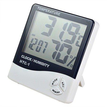 Higrometr, Termometr, Zegar, Budzik - HTC-1 - Stacja Pogodowa