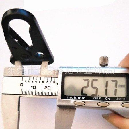 Karabińczyk metalowy Molle - 24mm - uchwyt do mocowania na pasek - EDC