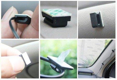 Klips samoprzylepny 3M 12x3x9.5mm - 10szt biały - uchwyt na wiązkę przewodów - Organizer do kabli