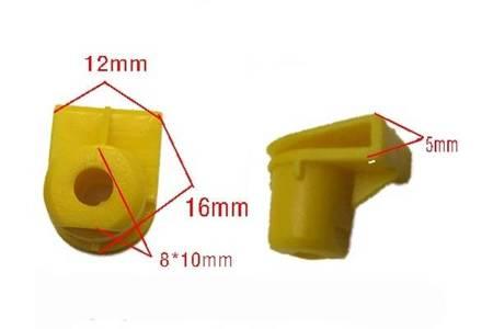 Kostka montażowa zderzaka nadkola 8x10mm - żółty - Spinki osłon nadwozia - 10szt