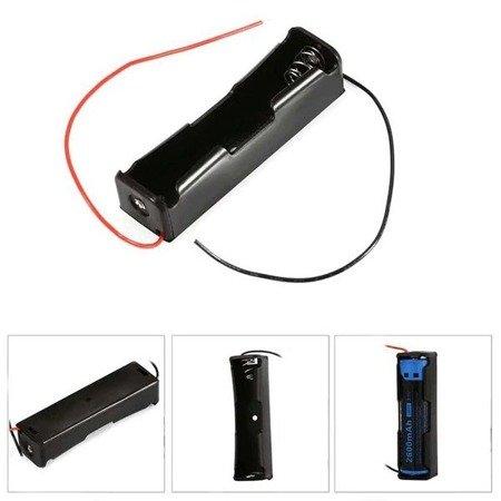 Koszyk na akumulator 1x 18650 3,7V Li-Ion - koszyczek na baterie (ogniwo) z przewodami