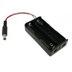 Koszyk na akumulator 2x 18650 - Wtyk DC 5,5mm/2,1mm - koszyczek na baterie (ogniwo)