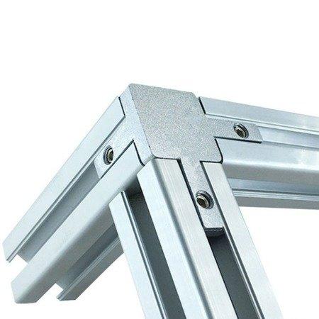 Łącznik narożny do profili aluminiowych 2020 - trójnik 90º - V-SLOT, T-NUT