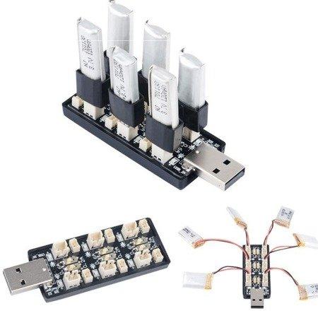 Ładowarka USB do akumulatorów 1S - 3,8V/4,35V - LIPO LIHV - 6 kanałów