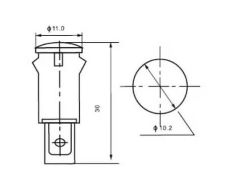 Lampka sygnalizacyjna z przewodem - MDX-11A - czerwona - Kontrolka LED