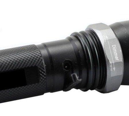 Latarka Policyjna SWAT - CREE XM-L T6 - ZOOM - akumulator, ładowarka