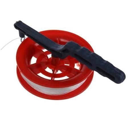 Linka do latawca 50 m - uchwyt z rączką obrotową - kołowrotek ze sznurkiem