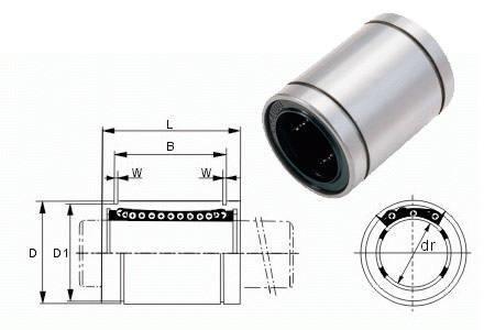 Łożysko liniowe LM12UU 12mm - RepRap 3D CNC