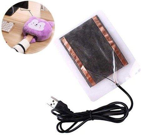 Mata grzewcza na USB 8 x10cm 4W - podkładka grzewcza - podgrzewacz