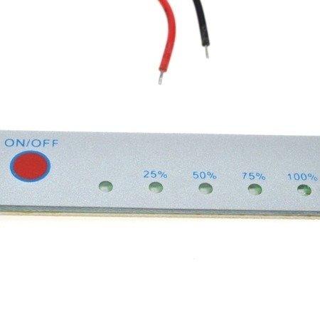 Miernik akumulatorów 14,4V 4s - Panel kontrolny pomiaru napięcia - Skala LED