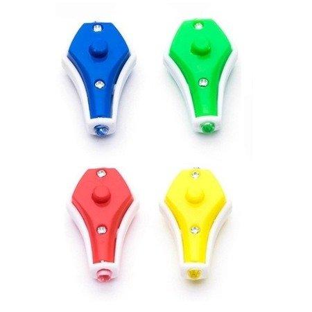 Mini Latarka UV LED z brelokiem - niebieskie światło - ultrafiolet