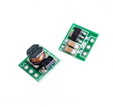 Mini moduł zasilacza stabilizowanego Step-Up 0.9-3.3V na 3.3V - 11x11mm