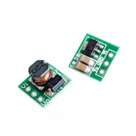 Mini moduł zasilacza stabilizowanego Step-Up 0.9-5V na 5V - 11x11mm