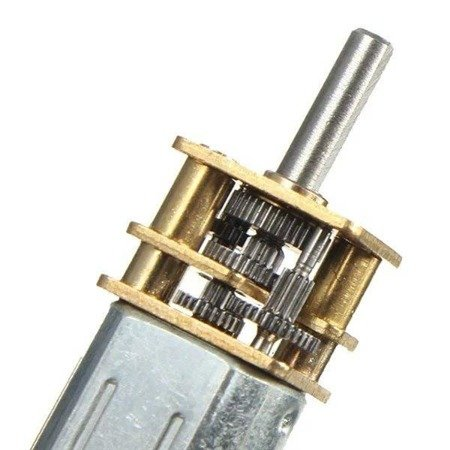 Mini silnik szczotkowy GA12-N20 - 150RPM - wał 4mm - 3-6V z przekładnią
