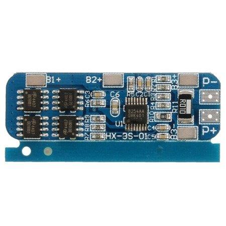 Moduł BMS PCM PCB ładowania Li-ion 3S 12V 6-8A - do ogniw 18650