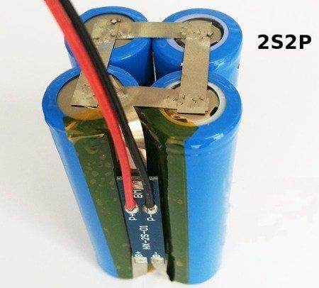 Moduł BMS PCM PCB ładowania i ochrony ogniw Li-ion 2S 8,4V 5A - 18650