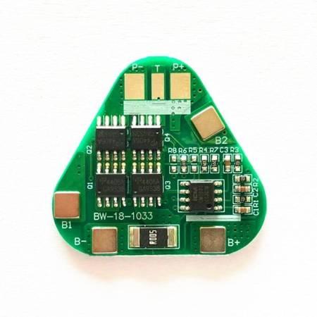 Moduł BMS PCM PCB ładowania ogniw 18650 3S 12V 5A - do ogniw 18650 - w trójkąt