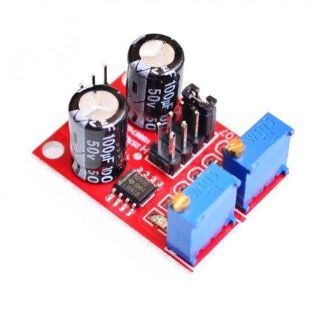 Moduł Generatora sygnału prostokątnego NE555 - regulowany 1Hz - 200 kHz