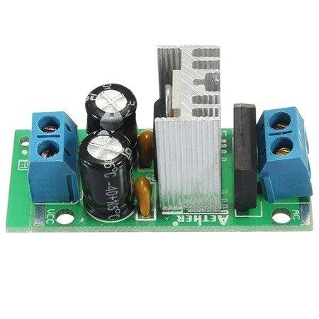 Moduł zasilacza stabilizowanego 5V 1,5A z AC: 5V - 16V / DC: 7V - 24V - LM7805