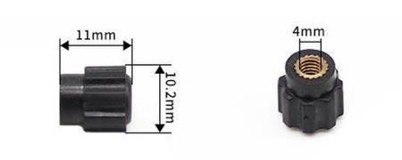 Nakrętka złącza zakręcanego z gwintem 4mm - czarna - gałka - JS900A