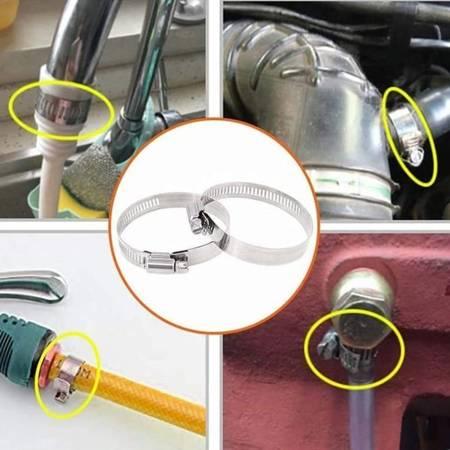 Opaska zaciskowa 8x12mm - 10 szt - metalowa obejma ślimakowa do rur i węży