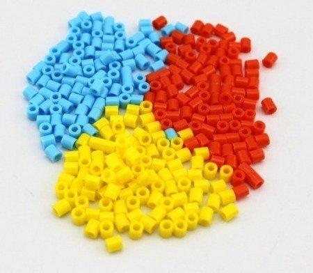 Plastikowa tuleja 3mm - żółta - do budowy robotów i projektów DIY - 10szt.