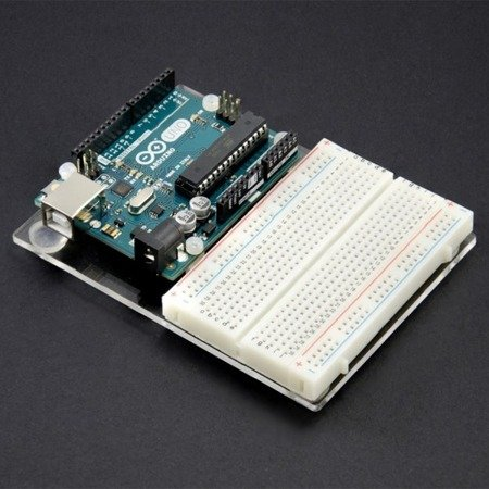 Podstawka plexi pod Arduino UNO R3 - budowa prototypów