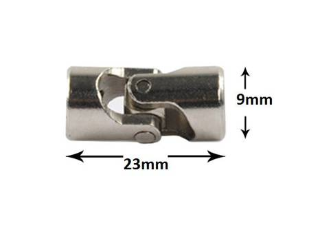 Przegub kardana 23x9mm - na oś 3/3mm - do budowy robotów, projektów DIY