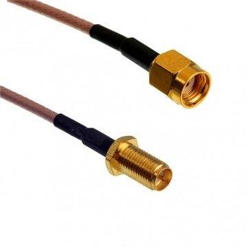 Przejście - RP-SMA plug na RP-SMA jack - adapter prosty z przewodem 100mm