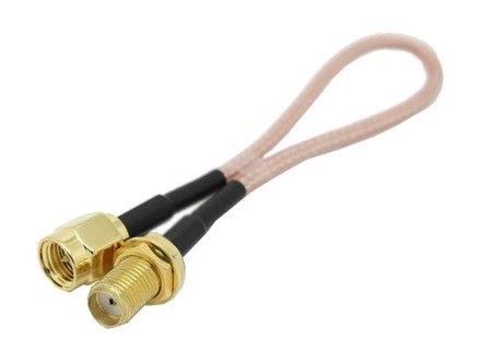 Przejście - SMA jack na SMA plug - adapter prosty z przewodem 200mm