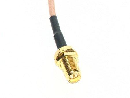 Przejście - U.FL (IPEX) na RP-SMA jack - adapter prosty z przewodem 100mm