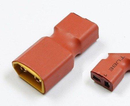 Przejście - wtyki XT60 (męskie)- DEAN T (żeńskie) - krótkie - do akumulatorów