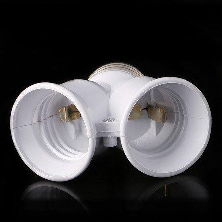 Przejściówka rozgałęziacz E27 na 2x E27 - adapter na żarówkę - gniazdko 1 na 2