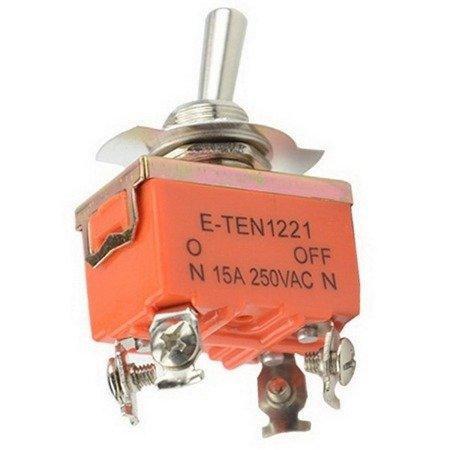 Przełącznik dźwigniowy - 15A - 250V - 2-pozycyjny - E-TEN1221 - 4 piny