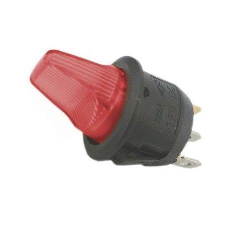 Przełącznik hebelkowy KCD1-101B zielony - 230V - wyłącznik  3PIN